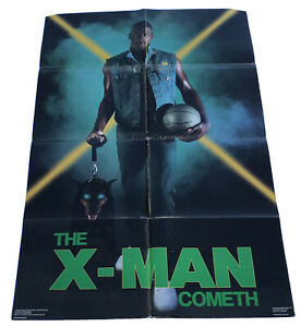 "Xavier McDaniel - X-Man Cometh Costacos 1988 Seattle Supersonics 24"" X 36"" Rare"