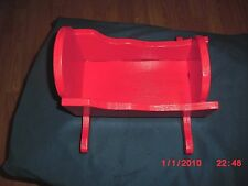 "Hand Made Doll Furniture Painted Red 1960'S 9"" Length 5"" Wide 2 "" Depth"