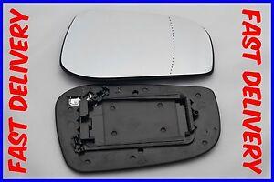 VOLVO S60 / V70 2003-2005 DOOR MIRROR GLASS ASPHERIC HEATED DRIVER'S SIDE UK