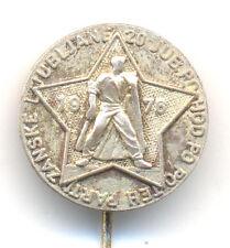 YUGOSLAVIA Slovenia 20 Anniversary march along Partisan Ljubljana 1976 pin badge