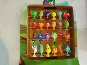"Lidl Stikeez! ""Sticking Vegetables and fruits"" All 24 figures + storage box game"