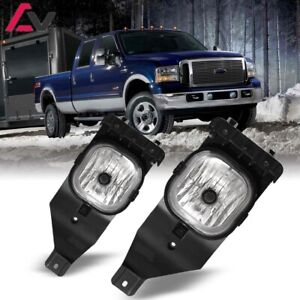 For Ford F-Series 05-07 Clear Lens Pair Bumper Fog Light Lamp Replacement