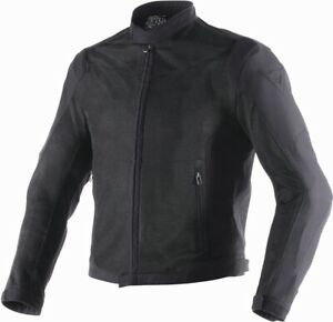 Motorcycle Jacket Summer Perforated Dainese Air Flux d1tex Black