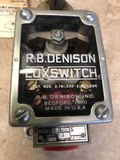 NEW R.B Denison Loxswitch L100WS Limit Switch  600 Volts Max Series E GLASS