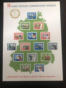 15 Jahre DDR Deutsche Demokratische Republik Gedenkblatt Block 19 postfrisch **