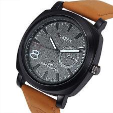 Fashion Sport Watches Men Military Leather Strap Men's Wrist Quartz Watch US