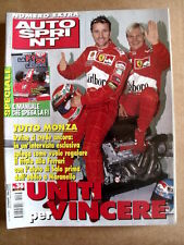 AUTOSPRINT n°36 1999 Eddie Irvine Mika Salo Ferrari   [P50]
