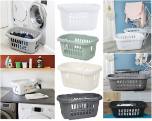 Wham 50L Laundry Hipster Storage Basket Washing Clothes Linen Bin Plastic Home