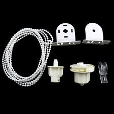 White Replacement 38mm Roller Blind Fitting Repair Kit + Brackets and 2M Chain