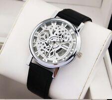 Luxury Men's Hollow Skeleton Manual Mechanicall Stainless Steel Wrist Watch