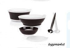 TUPPERWARE ELEGANZIA Bowls SET 1.5L + 2.3L + 3.2L half price Offer black & grey