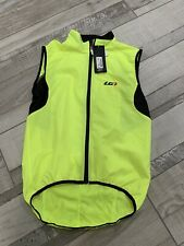 NEW Medium Louis Garneau Mens Nova Vest Sleeveless Cycling Jersey Bright Yellow
