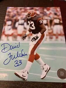 David Fulcher Cincinnati Bengals Signed 8x10 Photo NFL AUTOGRAPH Photofile