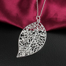 Leaf Necklace Pendant 925 Sterling Silver Fashipn Jewelry For Women Party Gift