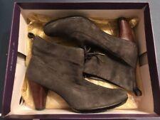 Indigo Grey Suede Heel Shoes Size 7.5 7 1/2 M Turkish Blend W Box
