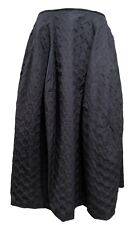 HACHE NAVY PATTERNED RUNWAY SKIRT, 44, $995