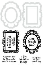 Decor Frames & Quotes Decorative Die And Stamp Set - Kaisercraft