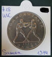 SAMOA I SISIFO 1$ RARE COIN DOLLAR 1974 SPORT BOXING COMMONWEALTH GAMES OCEANIA