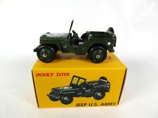 Jeep Willys US Army - DINKY TOYS DeAgostini VOITURE MINIATURE MODEL CAR 153A