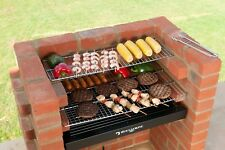 Brick BBQ Kit + Ember Guard + Stainless Steel Grills 67 x 39 BlackKnight + Cover