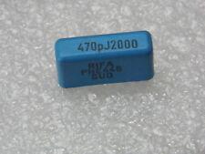 Lot x 10- capacitor condo 470pF J 0.5% 0.47nF 2000v 2kv Rifa p:0 19/32in
