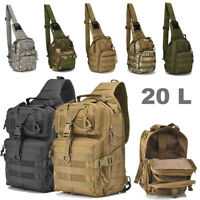20L Outdoor Neutral EDC Military Tactic Backpack Waterproof Sling Rucksacks Bag