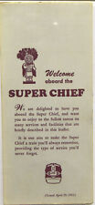 "Santa Fe  Welcome Aboard brochure  ""Super Chief/El Capitan"""