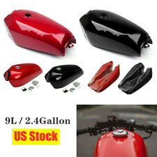 9L/2.4Gallon Motorcycle Cafe Racer Vintage Fuel Gas Tank& Cap Switch Accessories