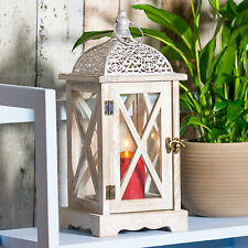 Large Indoor Wooden Metal Candle Lantern Moroccan Vintage Old Style Home Wedding