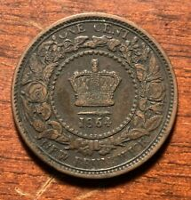 1864 New Brunswick one cent - nice details