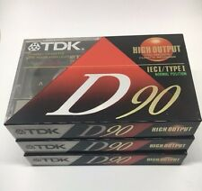 TDK High Output Normal Position D90 Lot of 3