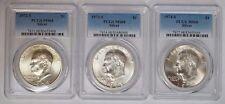 1972, 1973 & 1974 S $1 Silver Ike Eisenhower Dollar PCGS MS68 Set of 3 Gem Coins
