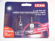 G9 28 W Xenon bombillas de la cápsula lámparas UV-Stop claro 240 V Pack 2 por Lyvia