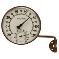 AcuRite Wireless Indoor Outdoor Thermometer Bronze Swing Arm Metal Mounting
