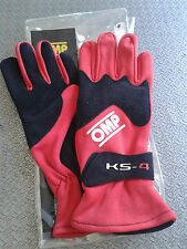 GUANTI KART OMP BAMBINOKS-4  TAGLIA 5 ROSSI RED KARTING RACE  GLOVES CHILDREN
