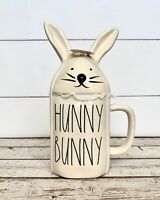 Rae Dunn 'HUNNY BUNNY' Mug with Bunny Ear Topper.