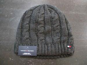 NEW Tommy Hilfiger Beanie Hat Cap Gray  Winter Mens $42