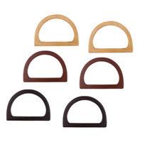 3Pair Retro Style Wood Purse Handle Evening Clutch Bag Handbag Handles DIY Craft