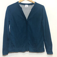 Cabi Ever Cardigan Sweater Womens Size M Snap Front Casual Teal Style # 3368
