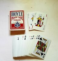 """""""Hoyle Playing Cards Poker Red Plastic Coated #1201 Free Shipping"""