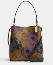 Coach Women Kaffe Signature Print Town Bucket Leather Bag/Crossbody (C2800)- NWT