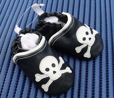 NEW Baby Boy Girl Skull & Crossbone Shoes, size 0-3-6-12-18-24 months 0.1.2.3.4