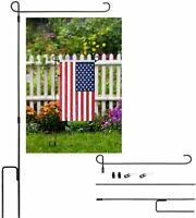 Details about  /Welcome Garden Flags American Flag Flower Basket Yard Banner Outdoor Decor LB
