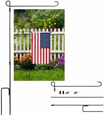 Garden Flag Stand for Yard Flag Party Banner Metal Powder-Coated Weather Proof