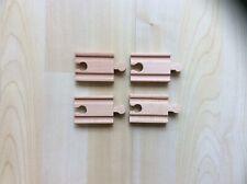 Genuine BRIO Four Wooden Mini Train Tracks - Suit Elc, Thomas etc