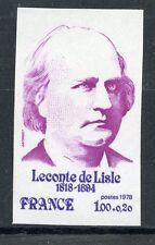 TIMBRE FRANCE NEUF N° 1988 ** LECONTE DE LISLE / NON DENTELE