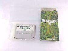 Snes Super Nintendo Famicom Secret Of Mana 2 Seiken Densetsu No Instructions