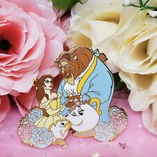 Belle Beauty and the Beast Disney Fantasy Pin - Love & Roses Le 50