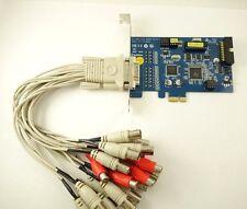 Genuine Geovision GV-800B EXV5.10 16 Ch Hybrid PCI-e V8.6.2 DVR Card Win 7 8 10