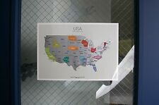 Scratch-off Us Mainland Map the United States of America A4(8.27 x 11.6) Size